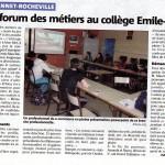 Article Nice Matin sur Forum des métiers du 05.02.2016