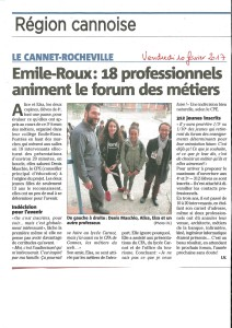 ARTICLE NICE MATIN /// 10.02.2017