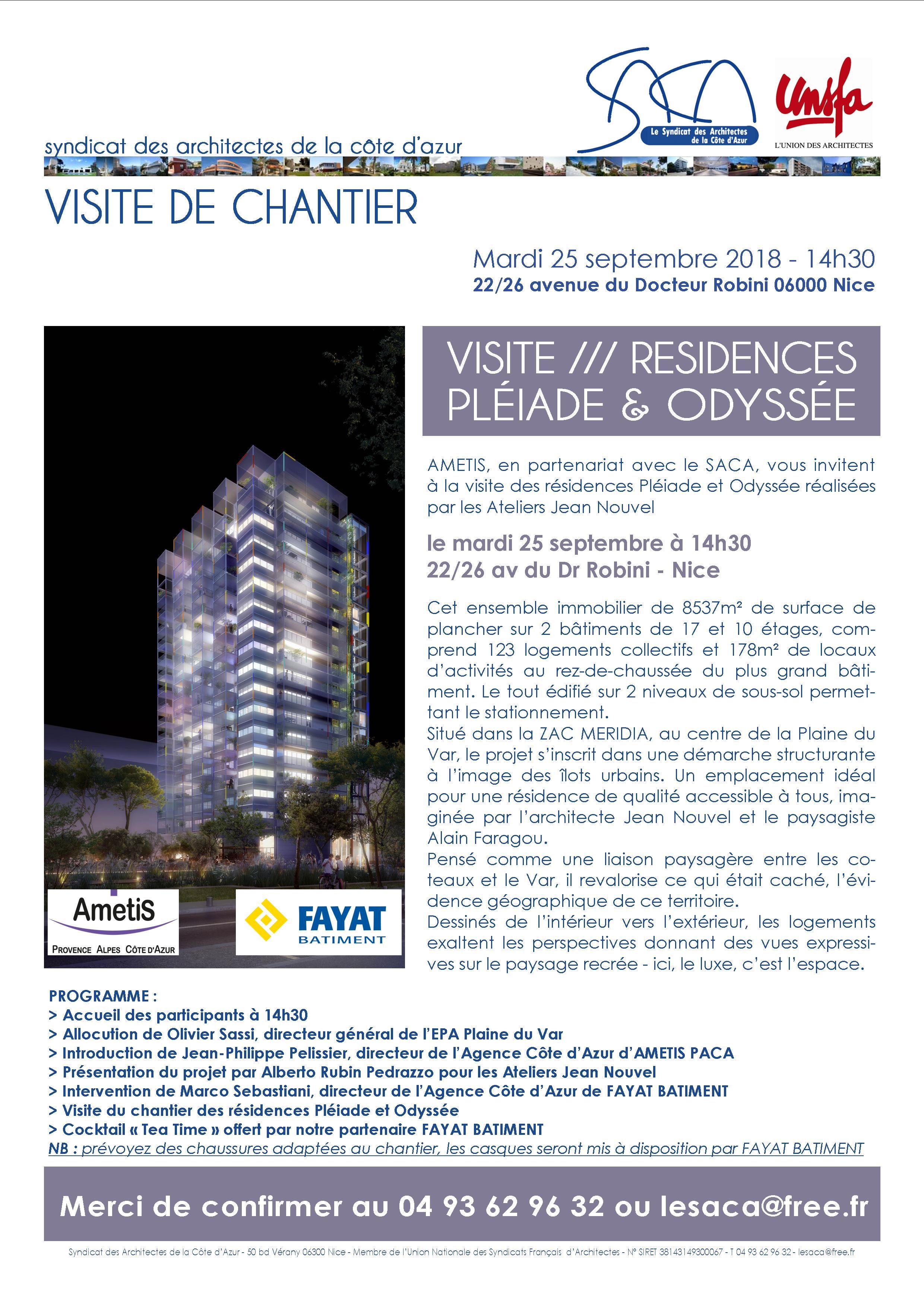 VISITE DE CHANTIER /// RÉSIDENCES PLÉIADE ET ODYSSÉE (JEAN NOUVEL) @ Résidences Pléiade et Odyssée | Nice | Provence-Alpes-Côte d'Azur | France