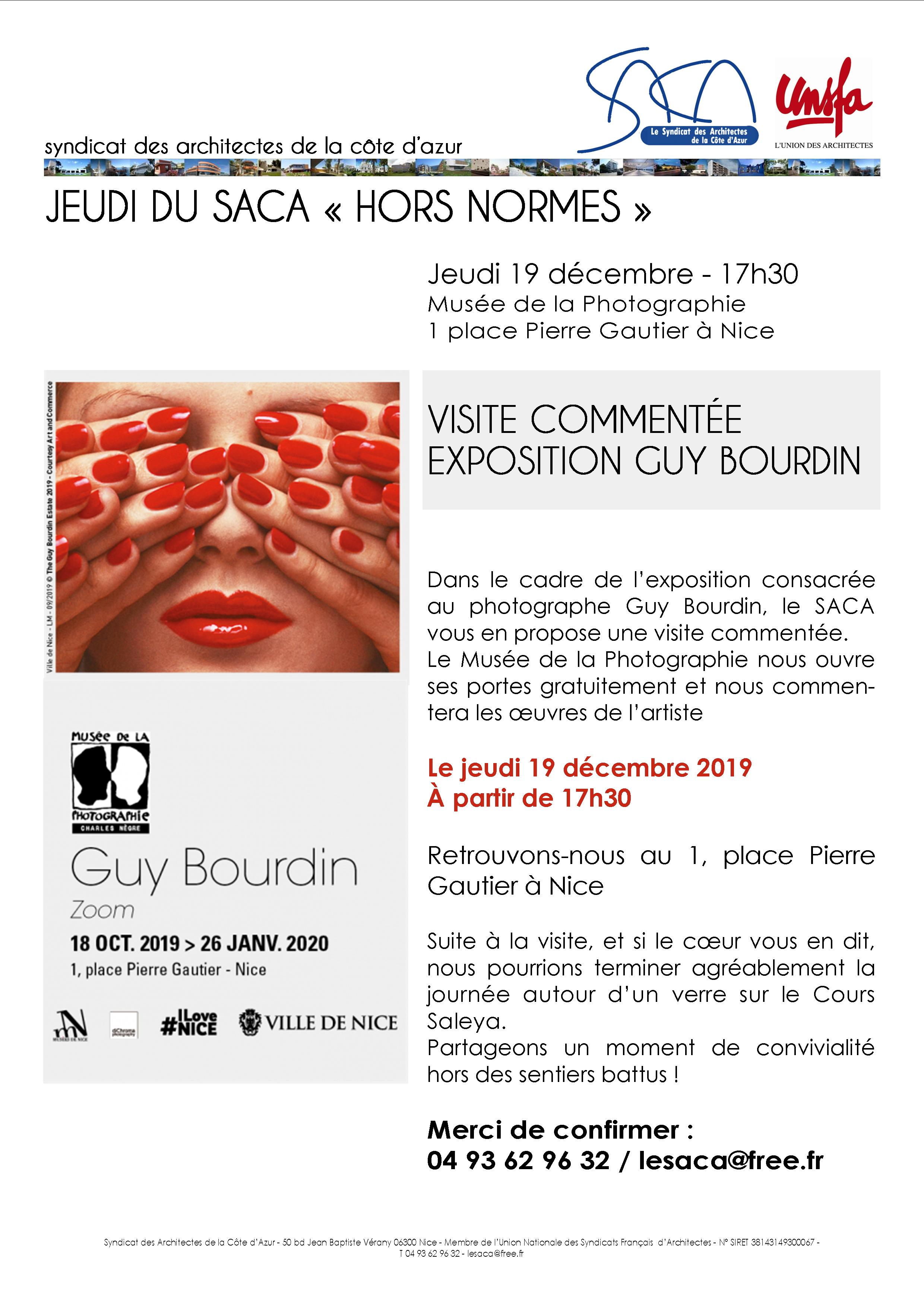 VISITE COMMENTÉE EXPO GUY BOURDIN /// 19 DÉCEMBRE /// MUSÉE DE LA PHOTOGRAPHIE @ Musée de la Photographie
